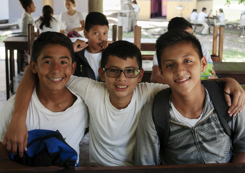 Schoolboys from Itza Wood